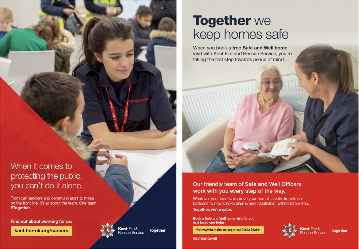 Kent Fire & Rescue multiple campaign examples