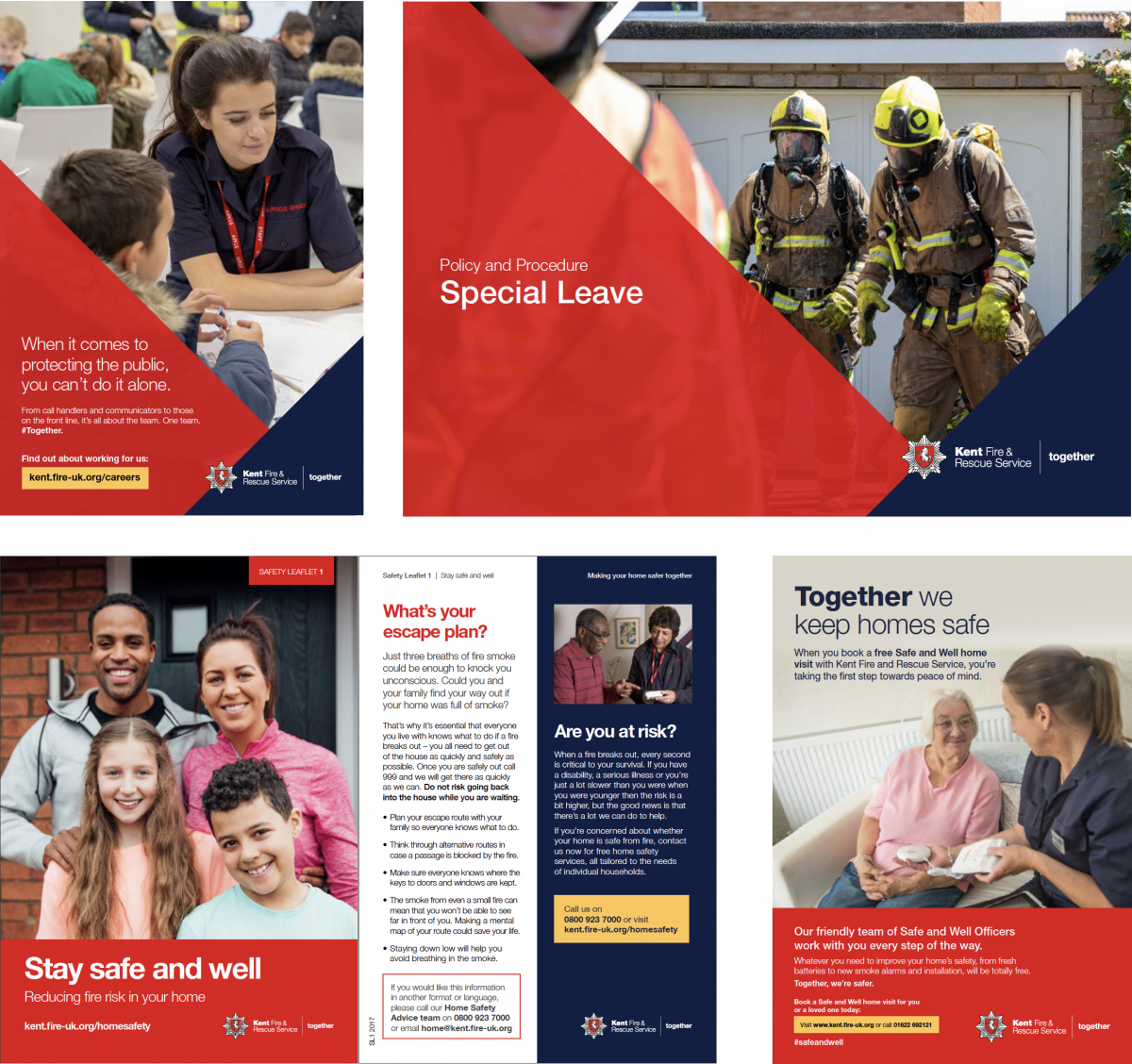 Kent Fire & Rescue Service leaflet examples