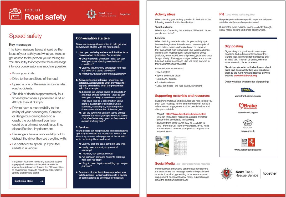Kent Fire & Rescue inner leaflet