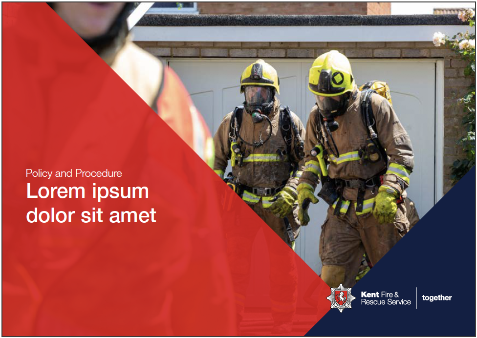 Kent Fire & Rescue leaflet front cover