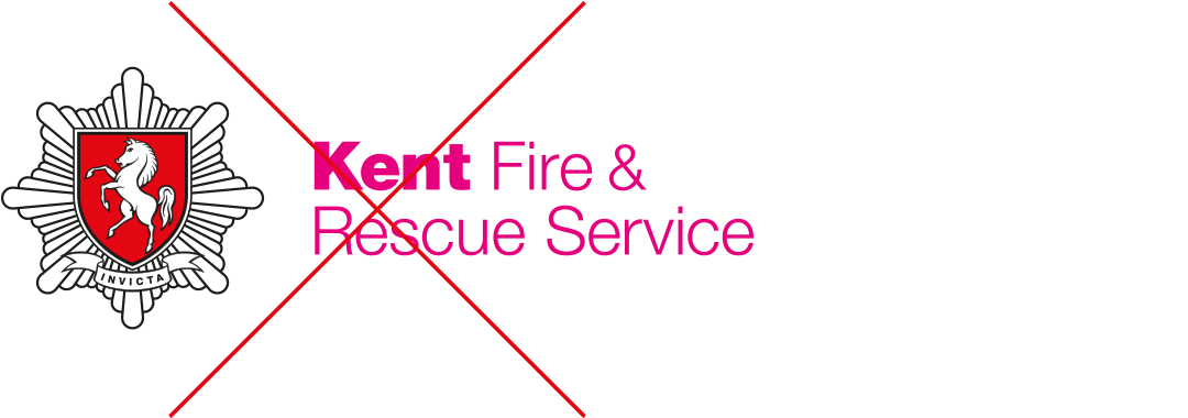 Kent Fire & Rescue Service logo with coloured text