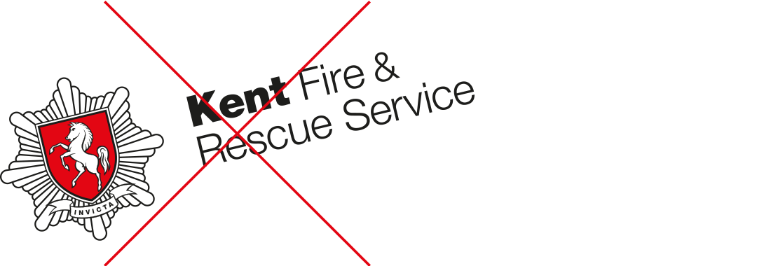 Kent Fire & Rescue Service rotated logo