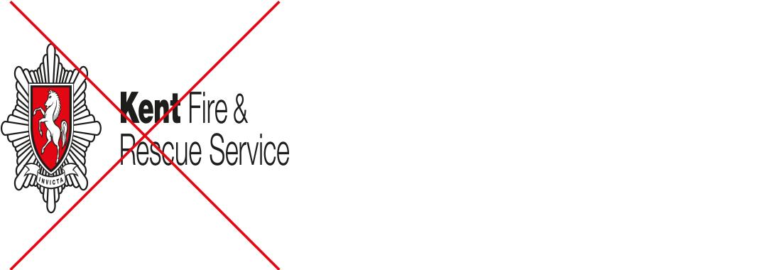 Kent Fire & Rescue Service logo squashed