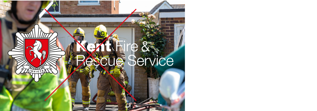 Kent Fire & Rescue Service logo over image