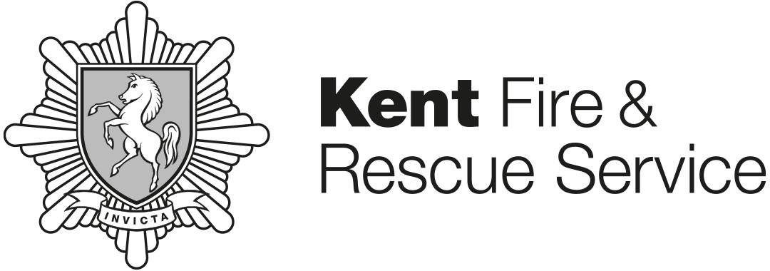 Kent Fire & Rescue Service greyscale logo