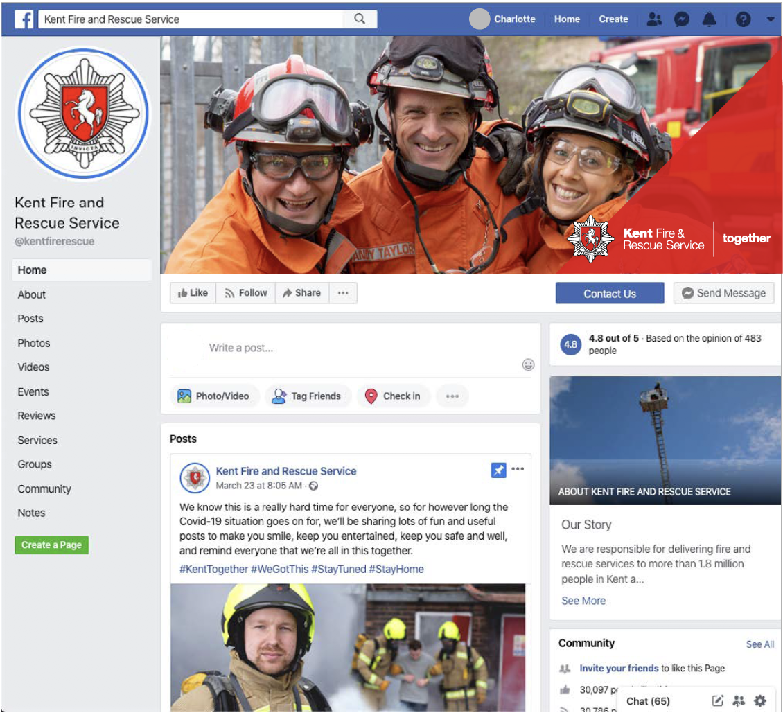 Kent Fire & Rescue facebook screenshot