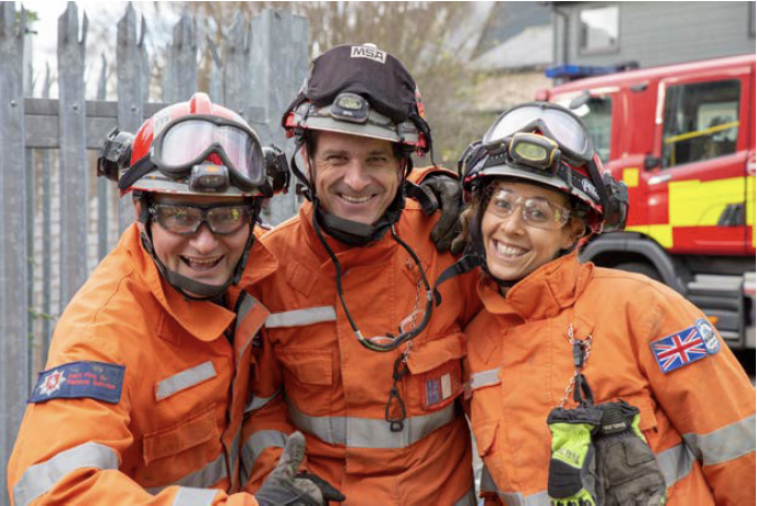 Three Kent Fire & Rescue Service officers