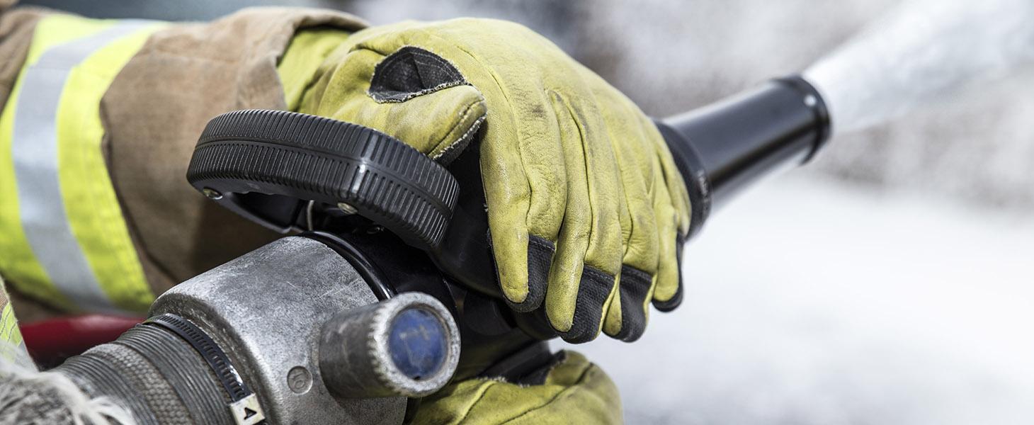 Close up of hose training exercise