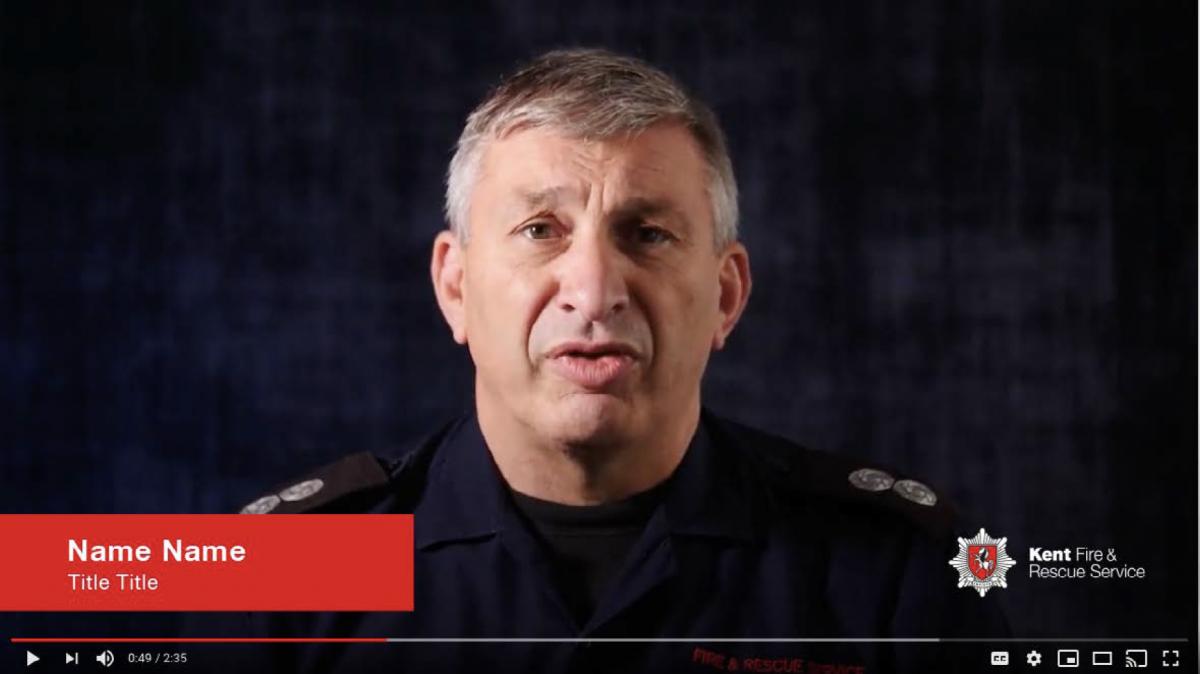 Kent Fire & Rescue screenshot of video