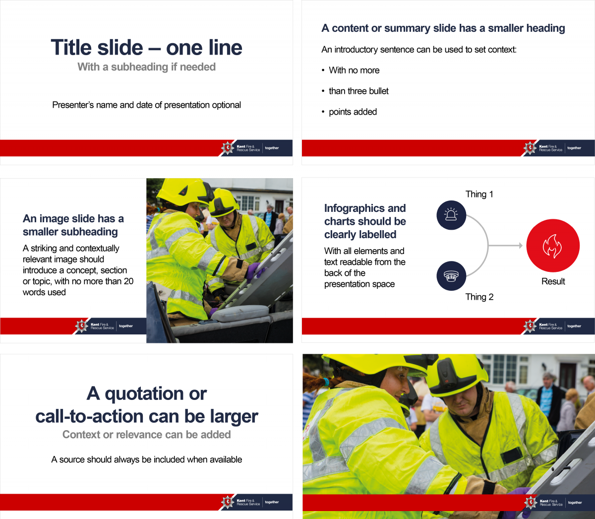 A preview of the KFRS PowerPoint template